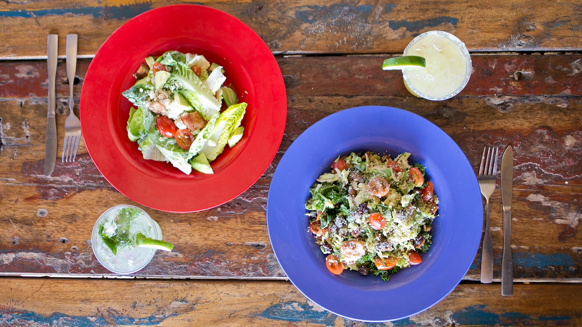 Backyard Greens | Brussel Sprout Salad and Sweet Gem Salad | Red Fish Blue Fish Pensacola Beach