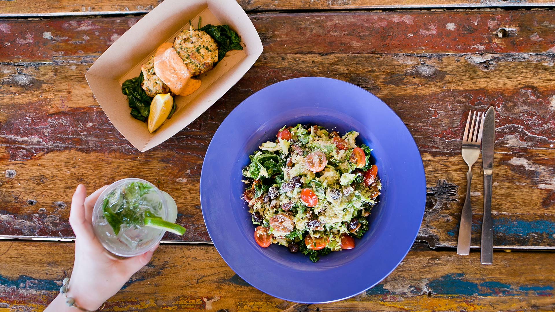 Backyard Greens | Brussel Sprout Salad | Red Fish Blue Fish Pensacola Beach