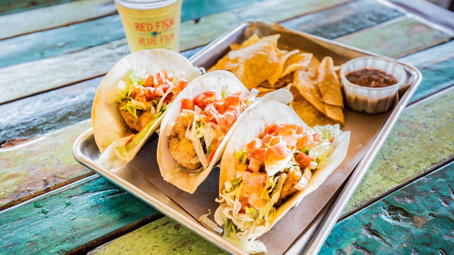 Taco Time | Shrimp Tacos | Red Fish Blue Fish Pensacola Beach