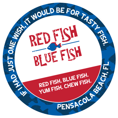 Red Fish Blue Fish Stamp